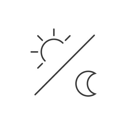 sun and moon icon illustration isolated vector sign