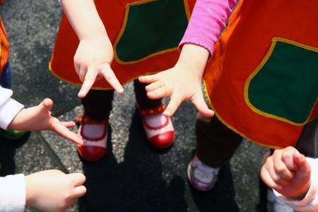 Children's hand game Stock Photo - 9235592