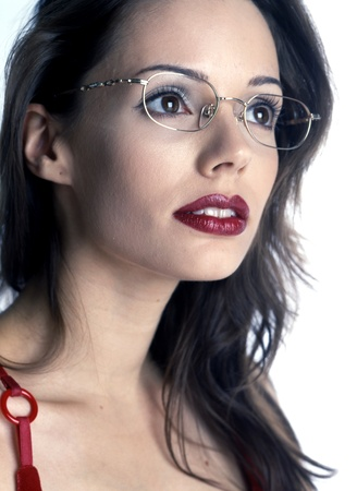 Beautiful girl with glasses  photo