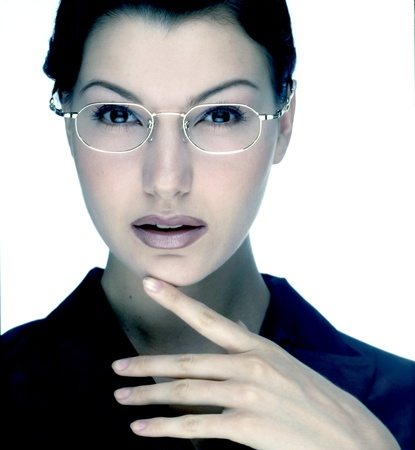 model with glasses photo