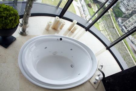 Scenes using the bathroom light and bright interior design Stock Photo - 9335507