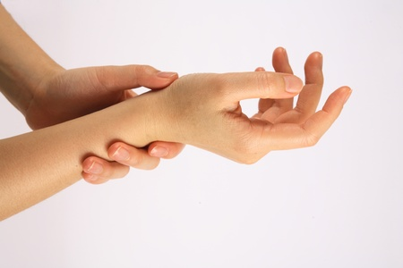 hand rubbing: Hand rubbing lotion on the action and maintenance