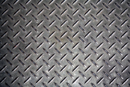 tactile: worn metal tactile flooring that can be seamlessly tiled Stock Photo