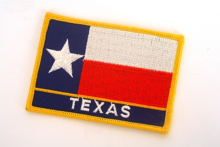 To line woven into the Texas state flag photo