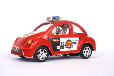 red toy police car photo