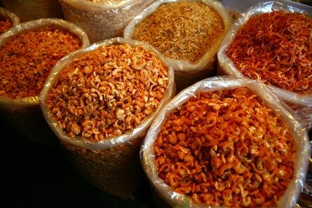 dry shrimp-market photo