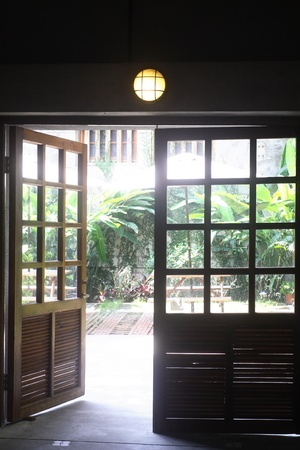 japanese-style residential beautiful window view photo