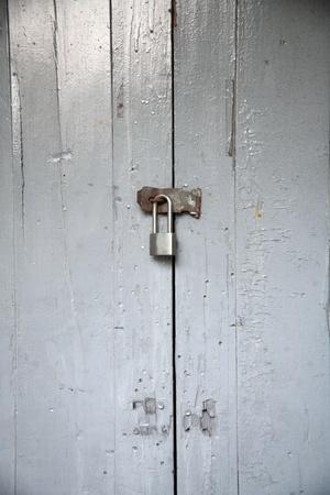 locked door with key Stock Photo - 10202190