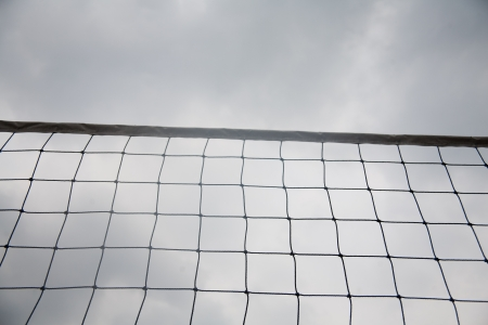 Volleyball net and ball photo