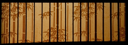 japanese style bamboo paper window