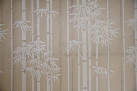 japanese style bamboo paper window photo