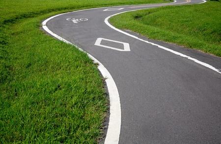 bike and the road photo