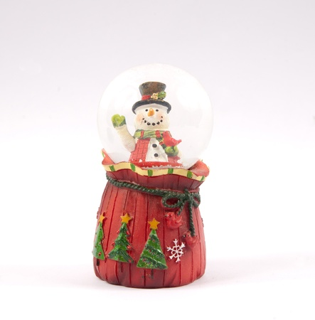Christmas snow ball transparent on isolated white background photo