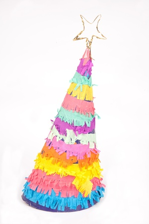 hand made party hat on white Stock Photo - 12070663