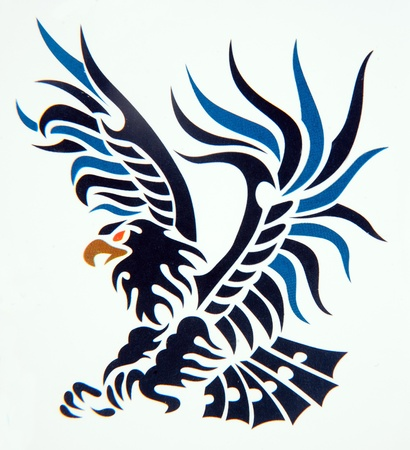 Tribal art classic tattoo eagle photo