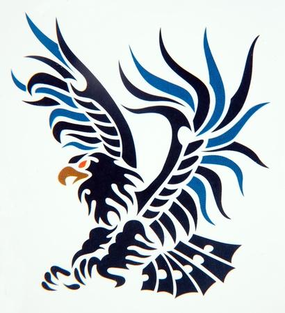 tatouage: Tribal art classique de tatouage  aigle