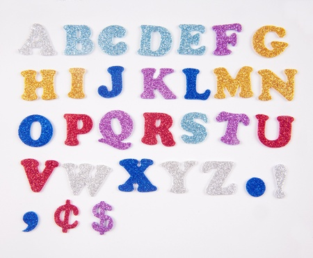 Sparkling letters from a to z photo