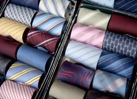 Tie a variety of colors and color photo