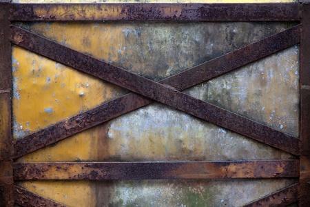 iron fence Rusty old corrugated iron fence close up. Stock Photo - 12070791