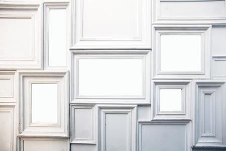 art gallery: Photo frame bianco sulla parete