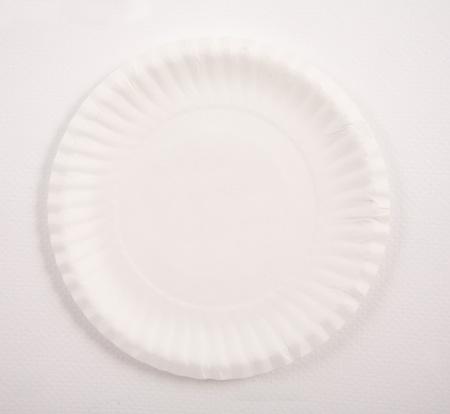 white birthday cake paper plate photo