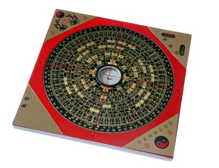 Ancient Chinese feng shui compass Stock Photo
