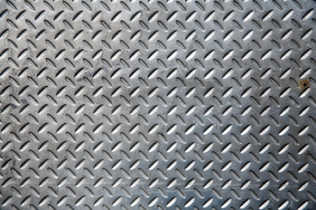 scrap heap: Seamless steel diamond plate texture Stock Photo