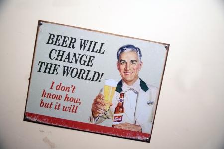 vintage shop decoration  on wallVintage  deco metal advertising sign