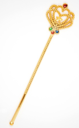 sceptre: Jewelry stick isolated on whitegolden scepter, sceptre