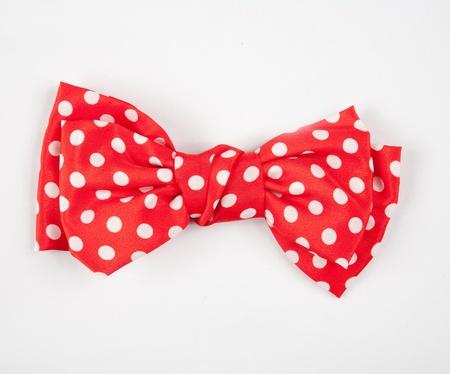 bow tie: Corbata de lazo rojo y blanco