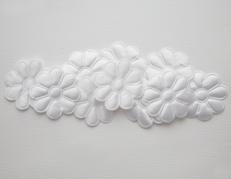 silk flower white motif background photo