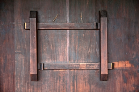 hinge joint: The latch of the ancient Chinese door made by wood