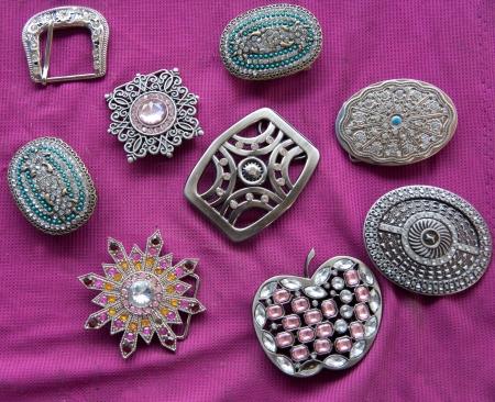 buckle: diamond belt bucklebelt decoration Stock Photo