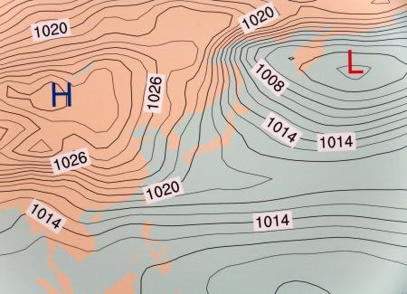 climatology: High barometer  low High barometer Stock Photo