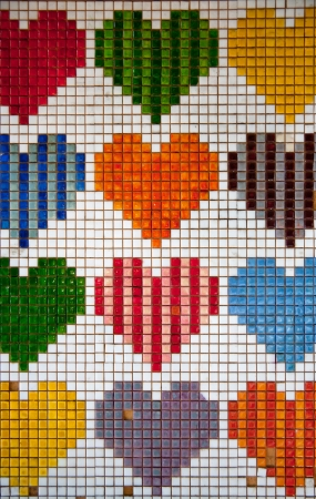 heart shape tiles on wallDecorative Ceramic Tiles photo
