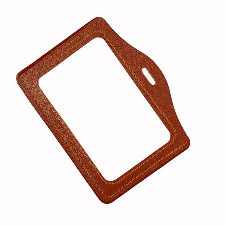 holder: id card holderleather id card holder Stock Photo