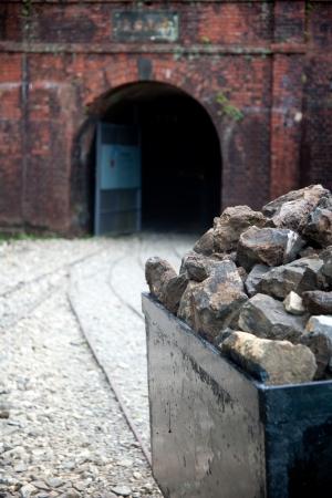 Abandoned mine waste mineralAbandoned mine photo