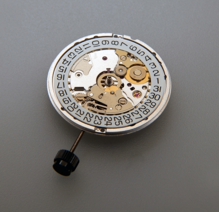 escapement: Watch mechanical inner ring Stock Photo