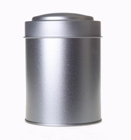 silver tin can Stock Photo - 17341575