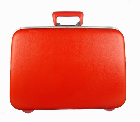 red suitcase for trevelling photo