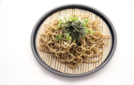 soba: Japanese soba scallions