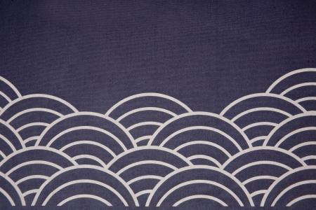 japanese flag: wave flag japanese style Stock Photo