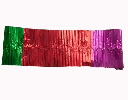 Colored aluminum foil /Colored aluminum foilbackground photo