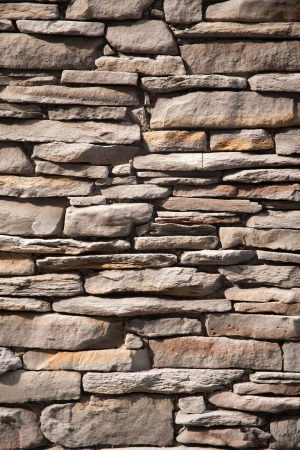 stone brick wall background. photo