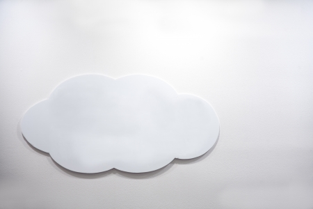 cloud shape board on wall photo