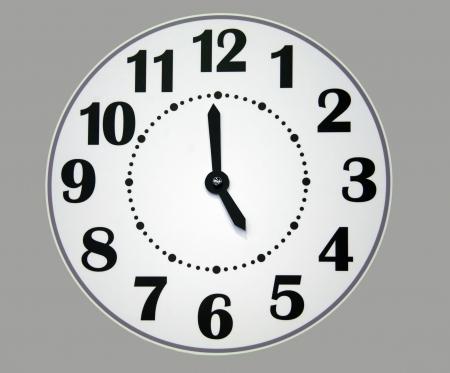 Papel reloj de pared Foto de archivo - 17330646