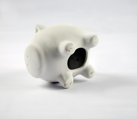 White pig piggy banks Stock Photo - 17341029