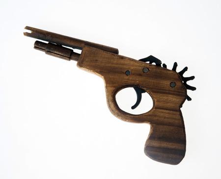 flint gun: pistola de madera hechos a mano