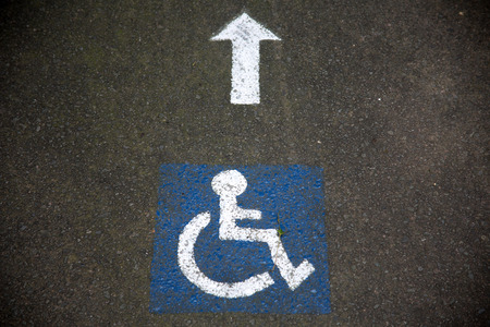 accessible: Handicapped instructions on road