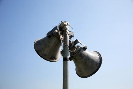 Speaker on the blue sky/Speaker Stock Photo - 28174124